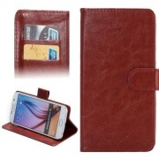 4.8-5.3 Inch Universal Crazy Horse Texture 360 Degree Rotating Carry Case with Holder & Card Slots for Samsung Galaxy S6 / S5 / Galaxy Grand Duos / G920 / G900 / i9082(Brown)