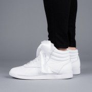 Sneakerși pentru femei Reebok Freestyle Hi Satin CM8903