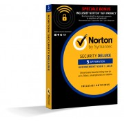 Norton Security Deluxe + Wifi Privacy 5-Apparaten 1jaar