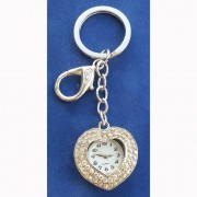 Ключодържател и моден аксесоар Сърце с часовник (KL2024)
