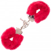 Cave Master Furry Love Cuffs - Röd