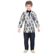 Jeet Grey Kurta Pyjama Suit for Boys