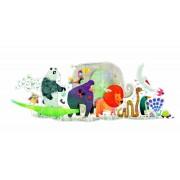 Puzzle gigant pentru copii, Parada animalelor, 36 de piese mari, Djeco