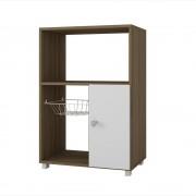 Potenzzo mueble para microondas potenzzo roble con blanco