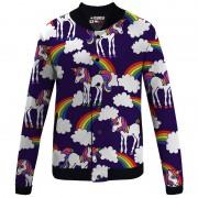 Mr. Gugu & Miss Go Rainbow Unicorns Unisex Baseball Jacket BJCS834
