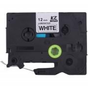 ER Kze-231 Negro Sobre Blanco 9mm/12MM Cinta Adhesiva Compatiable Para Brother P-Touch -Negro Sobre Blanco