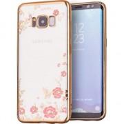 Husa telefon hurtel Bloomy Case designerskie etui żelowy pokrowiec Samsung Galaxy S8 G950 złoty