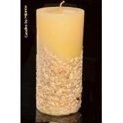 kaarsen: Steentjeskaars, super XXXL, H: 26 cm rond