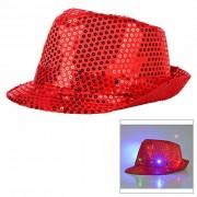 Luz LED parpadeante sombrero Jazz Jazz - Rojo (3 * AG13)