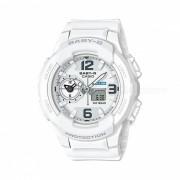 casio baby-g BGA-230-7B 100 metros de resistencia al agua Reloj LED para senoritas-blanco