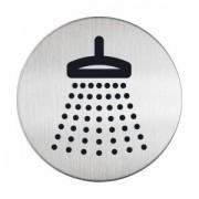 DURABLE · Hunke und Jochheim GmbH & Co. KG DURABLE Picto - Dusche Hinweisschild, Hinweisschild aus hochwertigem gebürsteten Edelstahl, 1 Stück