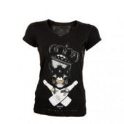 Tricou dama Erben Luxury imprimeu craniu Negru