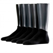 Esprit Solid 5-Pack Men Sneaker Socks Black