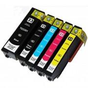 Epson Conjunto Tinteiros Compatíveis Epson 33XL T3351 T3361 T3362 T3363 T3364 BK PBK C M Y
