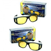 BUY 1 GET 1 FREE HD Wrap Arounds Night Vision NV NV NIGHT VIEW Glasses In Best Price Yellow Color Glasses Real Night Driving Glasses (AS SEEN ON TV)