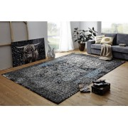 BLOK Koberec 300x200 cm - modrá, čierna, sivá