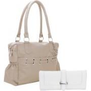Lady bar Women Fasion Clutch Bag White, Grey Shoulder Bag