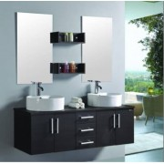 items-france LUXOR - Meuble double vasque de salle de bain contemporain