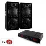 "Electronic-Star Conjunto PA ""Malone SPL Bluetooth MP3"" 2 altavoces 15"" & amplificador 2000W (PL-10869-1340)"