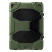 Military Survivor Case iPad 2017 2018 Hoes - Met standaard en Screenprotector - Army Groen