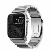 Nomad Pásek / řemínek pro Apple Watch 42mm / 44mm - Nomad, Steel Band Silver