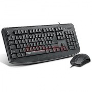 Rapo Nx1720 Wired And Mouse Set Black