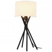 [lux.pro]® Asztali lámpa Mikado szövet éjjeli lámpa design 57 x ø 25 cm fehér