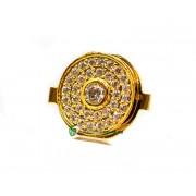 iPhone 4 Hemknapp Diamant (Guld)