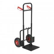 Ръчна товарна количка, 112 x 46 x 55,5 cm, Стомана, Черна/Червена [pro.tec]®