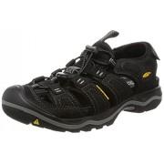 KEEN Men's Rialto Sandal, Black/Gargoyle, 10 M US