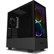 Carcasa NZXT H510 Elite, Middle Tower, ATX, fara sursa, Matte Black