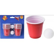 Beer Pong Game 14 Shotglas 60 Ml + 2 Bolde
