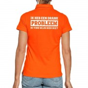 Shoppartners Koningsdag poloshirt Drank Probleem voor dames