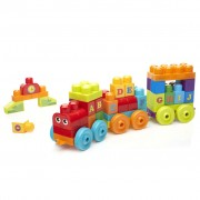 Mega Bloks First Builders 60 Piece ABC Learning Train DXH35