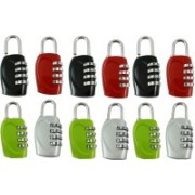DOCOSS Set Of 12-4 Digit Brass Small Bag Locks Travel Luggage Resettable Password Combination Safety Lock(Multicolor)