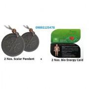 2 Nos. Original Scalar Energy Pendant + 2 Nos. 2mm Bio Energy Card