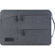 WIWU Travel Series Laptop Sleeve Case Bag Cover with Pockets for 15.6 inch Laptop - Grey