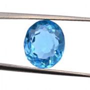 6.9 Ratti Best quality Blue Topaz stone Lab Certified