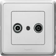 Cariva TV-RD aljzat végzáró 1,5 dB fehér Legrand