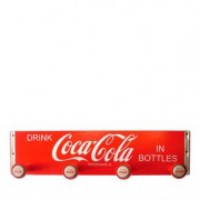 Cabideiro de Madeira Retangular Coca-Cola