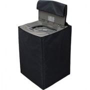 Glassiano Dark Gray Waterproof Dustproof Washing Machine Cover For Whirlpool WHITEMAGIC ROYALE fully automatic 6.5 kg washing machine