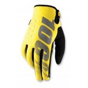 100% Handschoenen Brisker Neon Yellow-XL