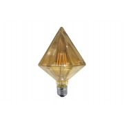 Ampoule décorative led pyramide couleur ambre e27 6w