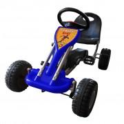 vidaXL Детски картинг с педали, цвят син