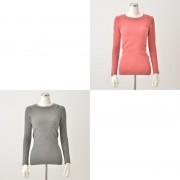 Stylemakerハートモチーフ付起毛暖か丸首インナー2色組【QVC】40代・50代レディースファッション