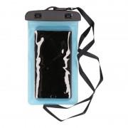 Bellatio Design Waterdicht telefoonhoesje voor alle telefoons blauw