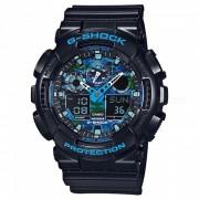 reloj elegante casio g-shock GA-100CB-1A-negro + azul