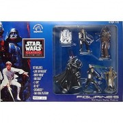 1995 APPLAUSE STAR WARS CLASSIC COLLECTORS SERIES FIGURINES WITH BESPIN DISPLAY PLATFORM. THIS SET INCLUDES LUKE SKYWALKER DARTH VADER HAN SOLO C-3PO R2-D2 CHEWBACCA & TWO-STAGE PLATFORM. THIS SET FEATURES REMOVABLE STEP PLATFORM FIGURES CAN STAND