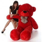 stuffed toy 3 feet soft and cute teddy bear red