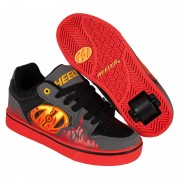 Heelys Motion Plus Grey/Black/Flames